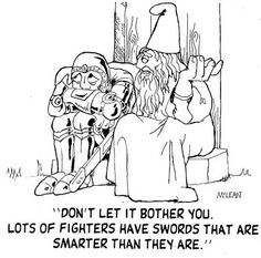 Intelligent Swords     D Cartoons By Will McLean