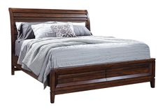 Walnut Park King Sleigh Bed With Footboard Storage KT:34629