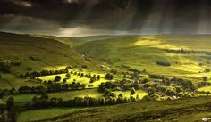 Interesting storm and sunlight on the remote but beautiful Yorkshire Dales village of Arncliffe. The Great Escape, The Great Outdoors, Beautiful World, Beautiful Places, Yorkshire Dales, English Countryside, Amazing Nature, Great Photos, Wonders Of The World