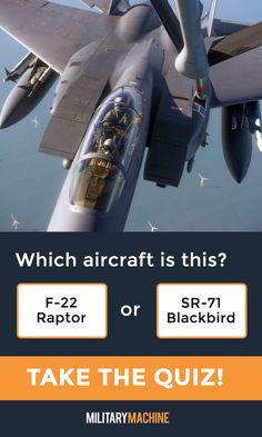 Take our quiz and test your knowledge of different military aircraft! Is this an F-22 Raptor or an SR-71 Blackbird? Maybe it's an F-35 Lightning II... If you enjoy quizzes and trivia, this one will surely test you. It covers a variety of military aircraft from fighter jets and helicopters to transport planes and stealth bombers. Let's see what you've got! #military #f22 #sr71 #aviation #quiz #quizzes #trivia #militaryaviation #aircraft