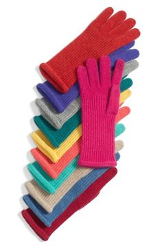 Halogen® Nordstrom 'Touch Tech' Cashmere Gloves available at #Nordstrom