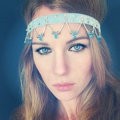Blue Frozen inspired Headband