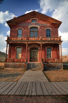 thirtymilesout: Hotel Meade Bannack Montana photo http://www.ghosttowngallery.com/htme/bannack3.htm