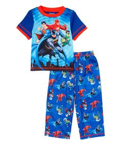 9cd47f912 Look at this Blue Justice League Tee  amp  Pajama Pants - Toddler on  zulily