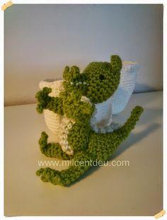 Amigurumi crochet dragón bebé. - Milcentdeu