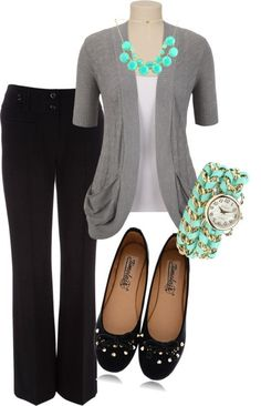 love seeing flats with these outfits..so much more practical for teachers