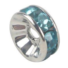 niceeshop(TM) 1 Sack (100Pcs) Kristall Silber Plattiert Rand Farbenreich Perle 8mm-Meerblau - http://schmuckhaus.online/niceeshop/meerblau-niceeshop-tm-1-sack-100pcs-kristall-rand