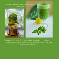Do YOU like Moringa?❣? Doesn't this smoothie recipe sound delicious?❣?  ❥➥❥ Containing over 90 nutrients and 46 Antioxidants, Moringa (Moringa Oleifera) is one of nature's most nutritious foods. Ideal for helping our bodies maintain optimum health and balance.  Moringa leaves are highly nutritious and are rich in Vitamins D, K, A, C, B6, Manganese, Magnesium, #Lysine, Riboflavin, #Calcium, #Thiamin, Potassium, #Iron, #Protein and #Niacin ~ http://www.znaturalfoods.com/affiliates/id/48_1