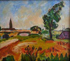 Vanessa Bell landscape oil