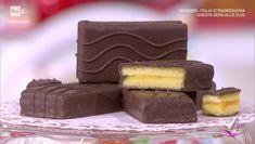 """""""Detto Fatto"""": la ricetta della merendina della festa di Mirco Della Vecchia del 15 gennaio 2018. Come riprodurre in casa la celebre merendina."""