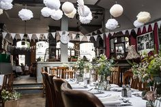 Real wedding: a flower-filled pub reception in London | You & Your Wedding