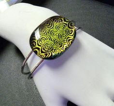 Bazarro  Fused Glass Bangle Bracelet with Dichroic by ArtBoxDesign, $26.00