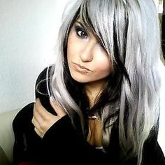 I actually really like the grey hair with black underneath this is what I want to do when I go grey.