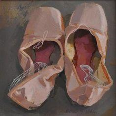 pink - ballet shoes - still life - painting - Helen Wilson Still Life Drawing, Painting Still Life, Academic Drawing, Art Pierre, Ballet Art, Ballet Shoes, Ap Studio Art, A Level Art, Gustav Klimt