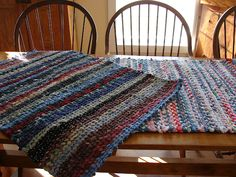This post has some really great directions for rag rugs!