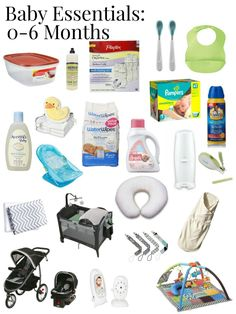 A great list of TRUE baby essentials for the first 6 months no matter what time of the year or gender! Plus links to all the products for easy shopping!
