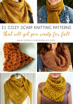 21 Cozy Scarf Knitting Patterns That Will Get You Ready For Fall - Dabbles & Babbles Fall Knitting Patterns, Knitting Paterns, Scarf Patterns, Knitting Ideas, Cozy Scarf, Cozy Knit, Cable Knitting, Crochet Scarves, Knitting Scarves