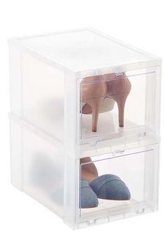 Straighten up your shoes. - WomansDay.com  sc 1 st  Pinterest & Shoe-eze- plastic shoe boxes u0026 containers - storage solutions ...