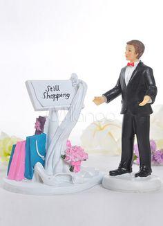 Bride Still Shopping Resin Wedding Cake Topper - Milanoo.com