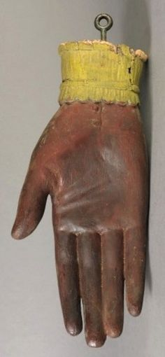 Trade Sign; Glove Maker, Hand, Carved & Painted, 20 inch.