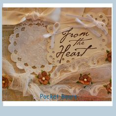 From The Heart Vintage Card w/ Envelope Vintage  by PocketBears,
