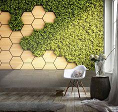 3D Hexagon Wood grain Green vegetation Wallpaper Removable | Etsy Of Wallpaper, Peel And Stick Wallpaper, Leaves Wallpaper, Adhesive Wallpaper, Moss Wall, Vine Leaves, Green Leaves, Plant Wall, Removable Wall