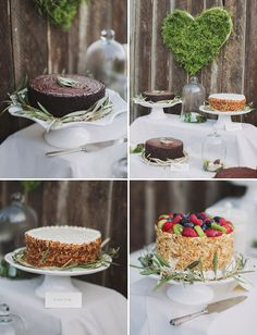 OH MY GOD! And the olive branches around the cake with the moss heart behind it all?! Haha this couple has the same exact ideas as Jeremy and I!! Creepy!