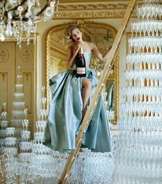 Scarlett Johansson photographed by Tim Walker in an ad campaign Moet & Chandon champagne