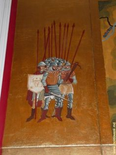Moldavian Soldiers from XVth century - from monastery painting