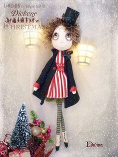 Edwina Urchin Art Doll by Vicki at Lilliput Loft