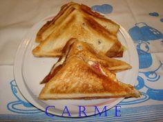 Triangulo de jamón Ibérico con queso