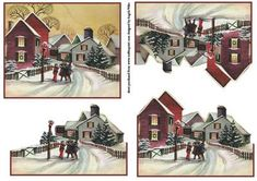this is an easy cut decoupage sheet to make up a lovely vintage scene, it is a card front with three layers