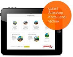 Unterstützung im Verkaufsgespräch - die garantSales App für die Vertriebsmitarbeiter von Kotte Landtechnik.