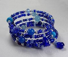 'Midnight Blues Wrap Bracelet' is going up for auction at  4pm Wed, Sep 26 with a starting bid of $5.