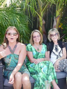 Marie, mother of the bride, myself and sister in law, Donna