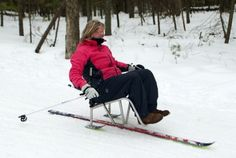 Adapted cross-country skiing.  See it. Believe it. Do it. Watch thousands of SCI videos at SPINALpedia.com