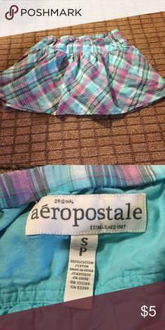 Aeropostale Small blue plaid skirt. Aeropostale Small blue plaid skirt. Measures 13 inches long. Band measures 12 inches across. 10% off 2+ bundles. Feel free to make an offer! Aeropostale Bottoms Skirts