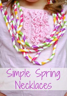 Simple Spring Necklaces- Fun fine motor and math or patterning craft for kids!