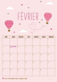 #calendrier -#papier-#fevrier
