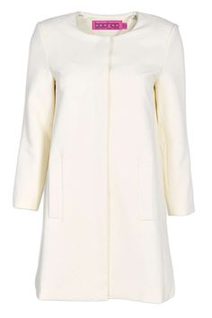 For the Jojo Maman Bebe, this is the Olivia Collarless Button Duster Coat, $70, via Mail Online