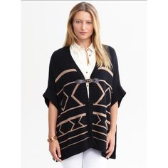 Banana Republic sweater cape From the heritage collection by Banana Republic. Never worn, still with tags. Perfect for any comfort winter look ! Banana Republic Sweaters Shrugs & Ponchos