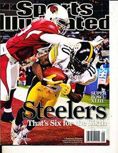 Feb 8 2008 Steelers Santonio Holmes Superbowl no label Sports Illustrated  SI83-09 by P R publications (B07D3HD3MJ)  0c32277ba