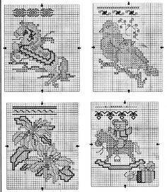 Schema punto croce Mini Calze 6