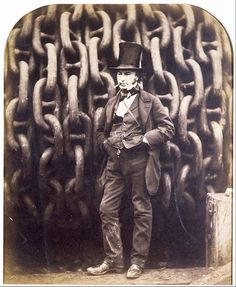 Robert Howlett, 'Isambard Kingdom Brunel and the Launching Chains of the Great Eastern', Museum no. Victoria And Albert Museum, Vintage Posters, Vintage Photos, Isambard Kingdom Brunel, Visit Bristol, European Paintings, Illustrations, Sculpture, Metropolitan Museum
