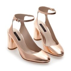 PATENT SANDALS WITH ANKLE STRAP