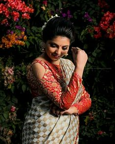 Saree Styles, Blouse Styles, Brocade Blouses, South Actress, Marriage Proposals, Beautiful Saree, Photography Women, Indian Actresses, Photo Art