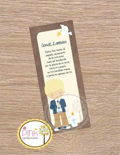 First Communion Favor Cards/ Bookmark / First Communion Boy/ Recuerdo de Primera Comunion Niño
