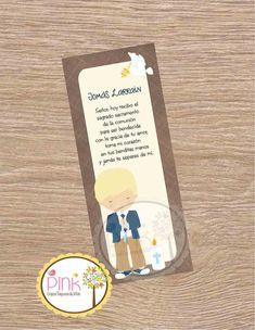 First Communion Favor Cards/ Bookmark / First Communion Boy/ Recuerdo de Primera Comunion Niño