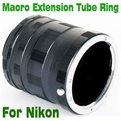 osell wholesale dropship Macro Extension Tube Ring For NIKON Ai AF DSLR & SLR D800 D7000 D700 D90 $4.46