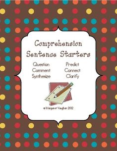 Free Reading Comprehension & Critical Thinking Cards {iHeartLiteracy}